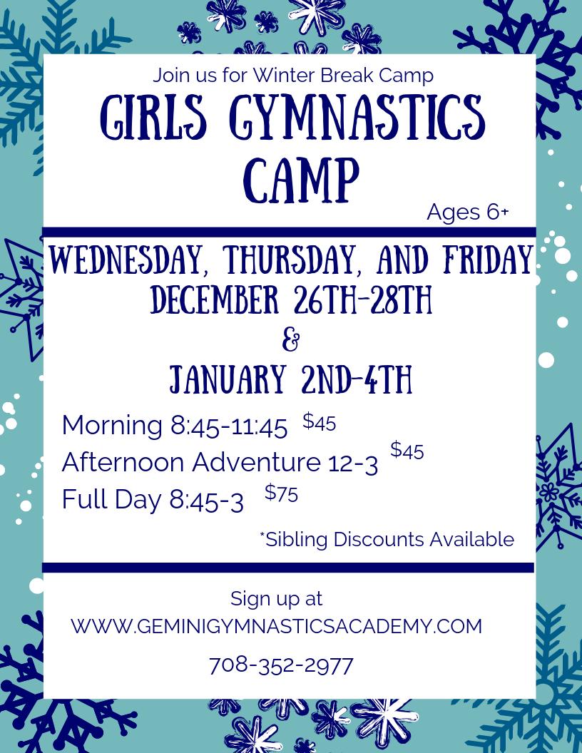 Girls Gymnastics Camp
