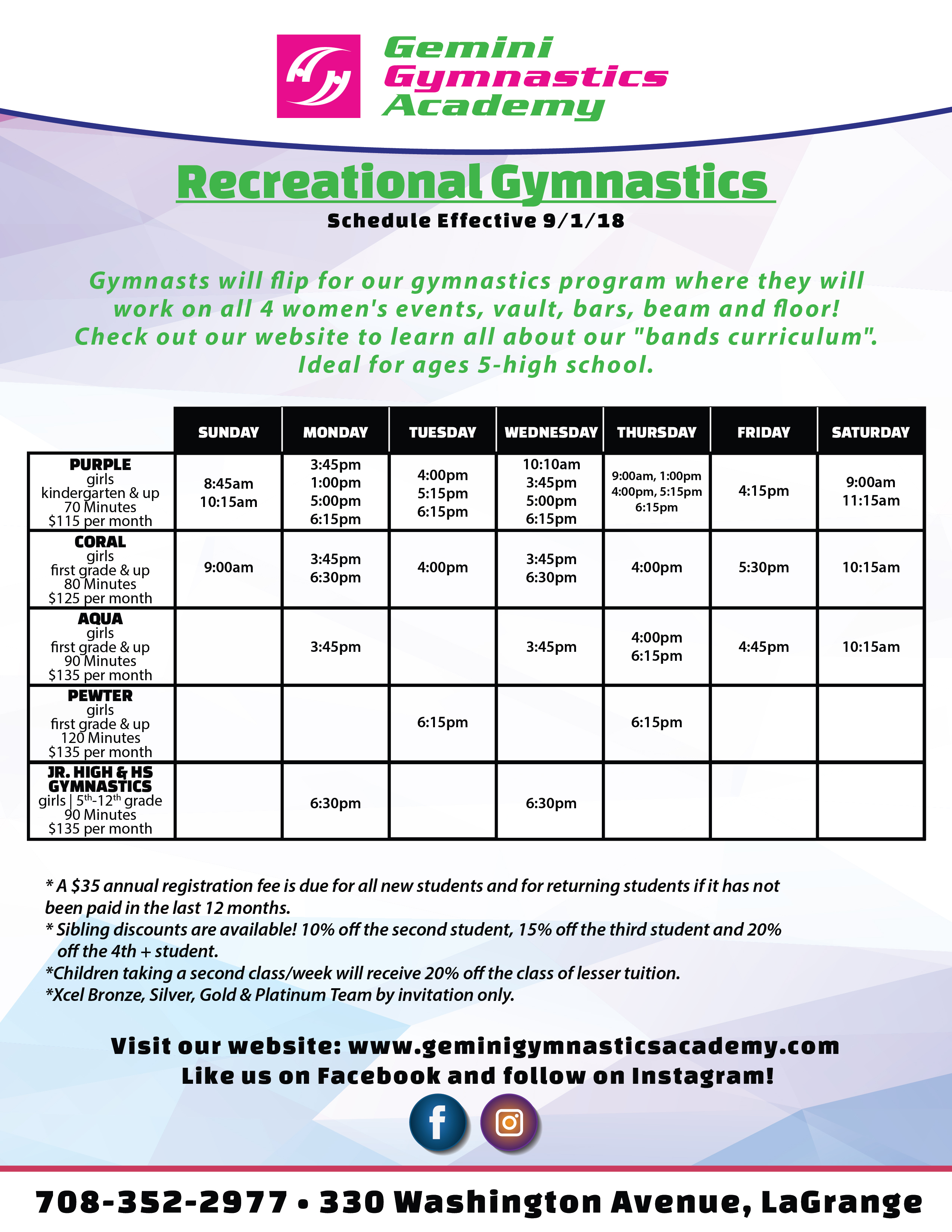 Gemini Gymnastics_Schedule_Seperated_April 2019-03