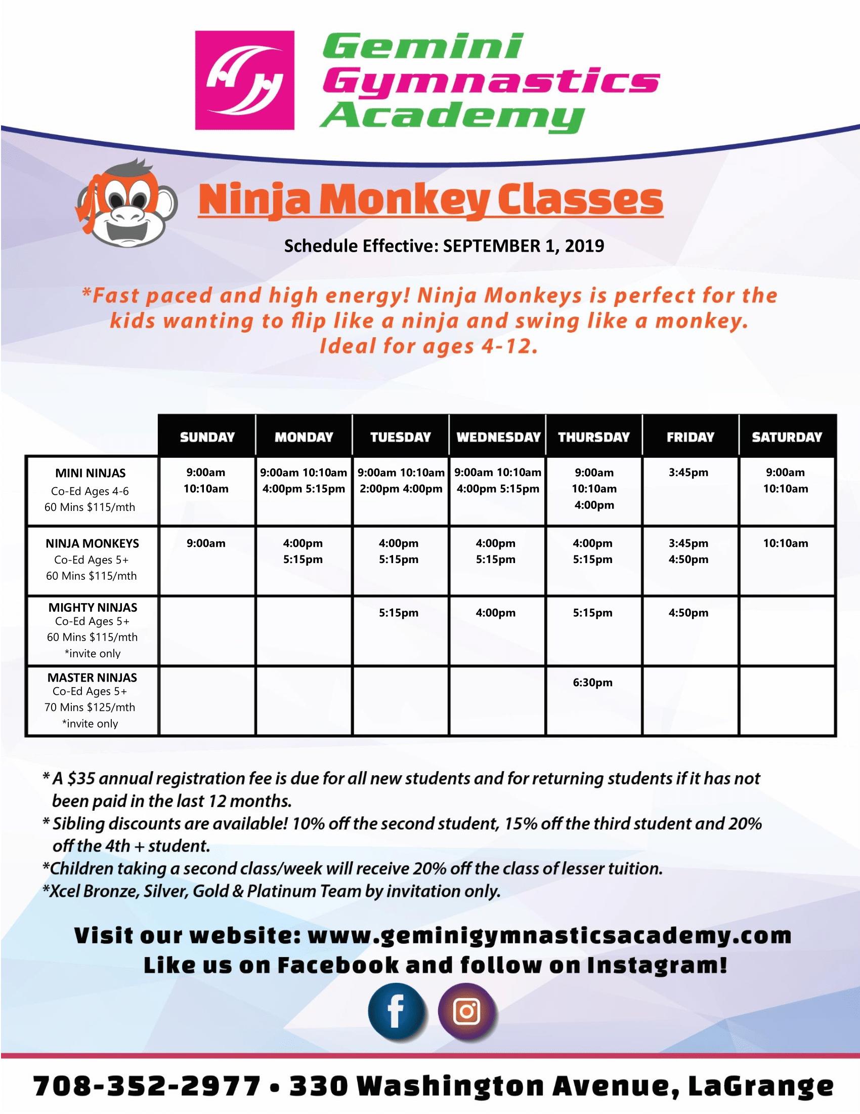 9_2019Gemini Gymnastics_Ninja Monkeys_Schedule_-1