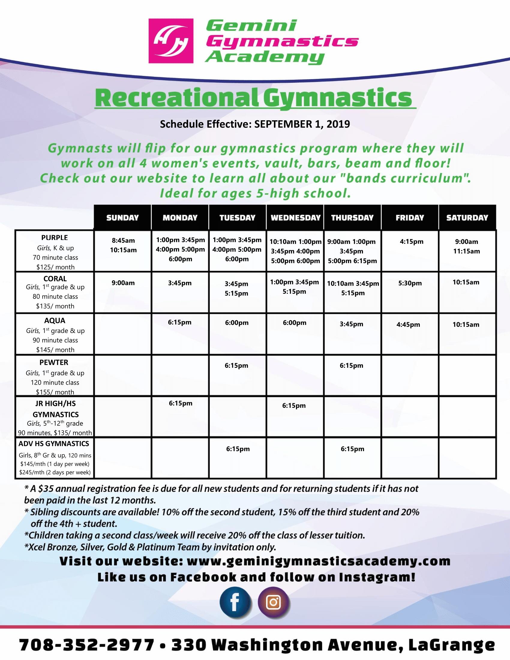 9_2019Gemini Gymnastics_Recreational Gymnastics_Schedule_-1