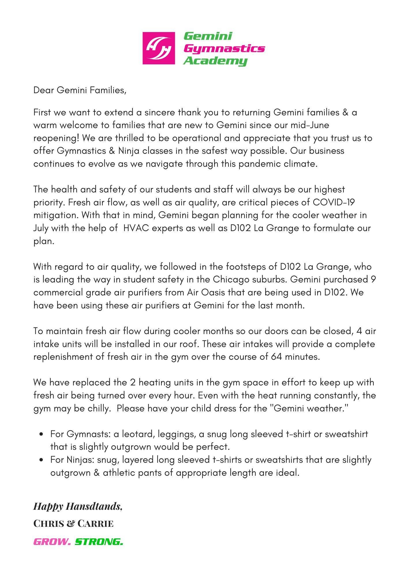 C&C safety letter