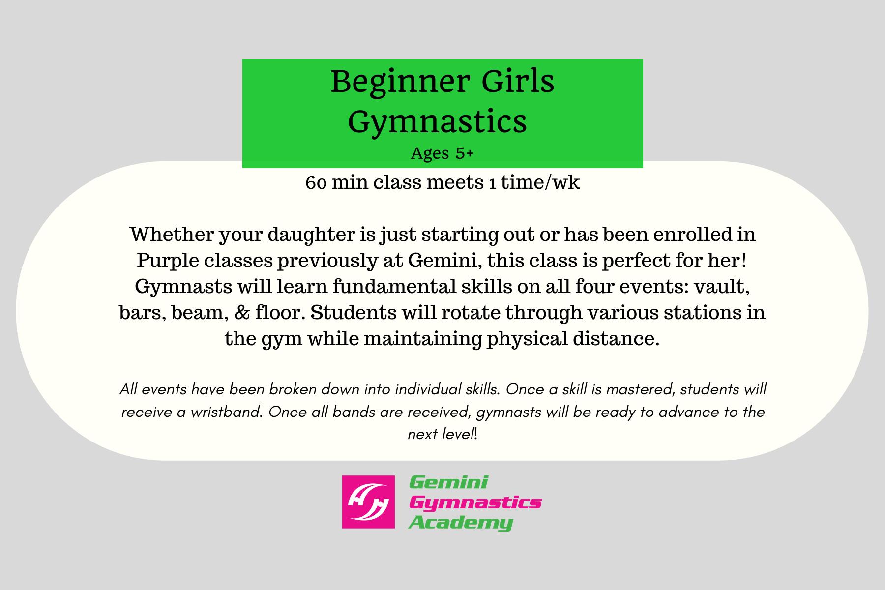 beg gymnastics