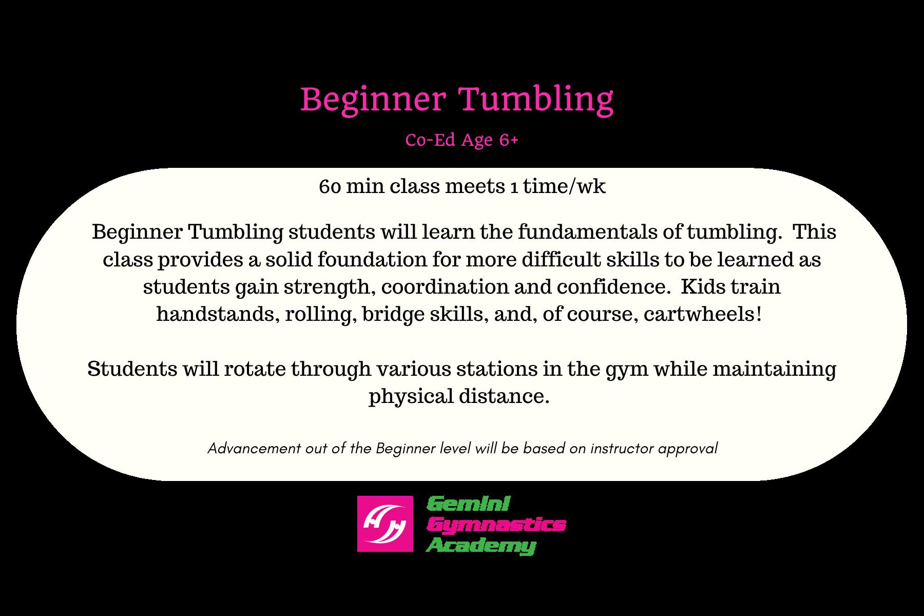 B tumbling