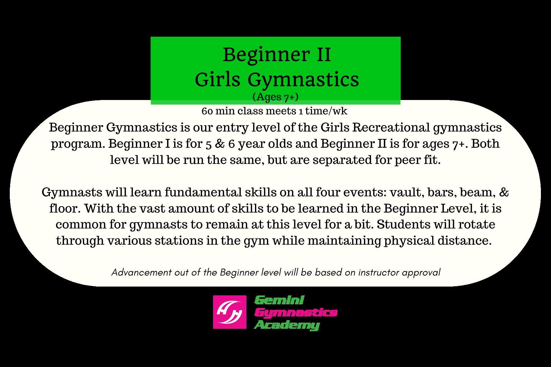 Beg gymnastics II