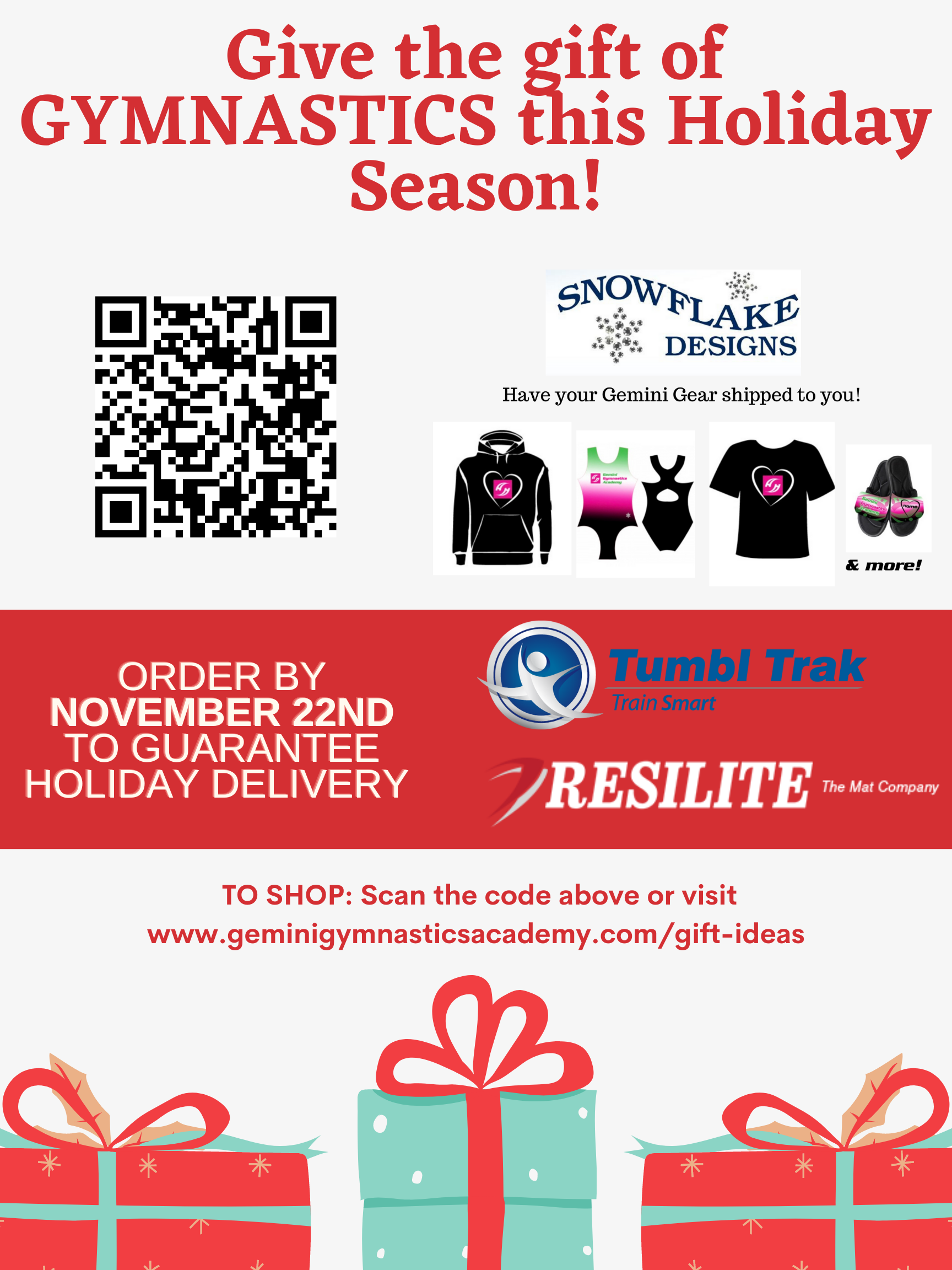 PLACE HOLIDAY ORDERS BY 11/22!
